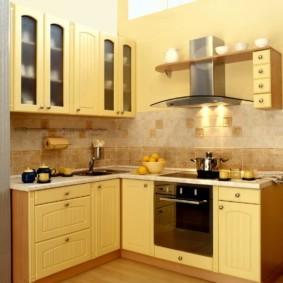 дизайн малогабаритной кухни интерьер