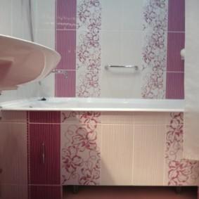 экран в ванной комнате керамический