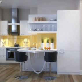 дизайн малогабаритной кухни декор фото