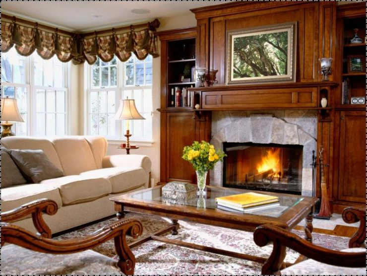 гостиная с двумя окнами дизайн идеи