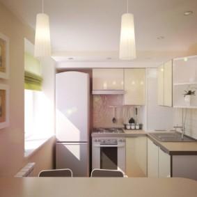 дизайн малогабаритной кухни оформление фото