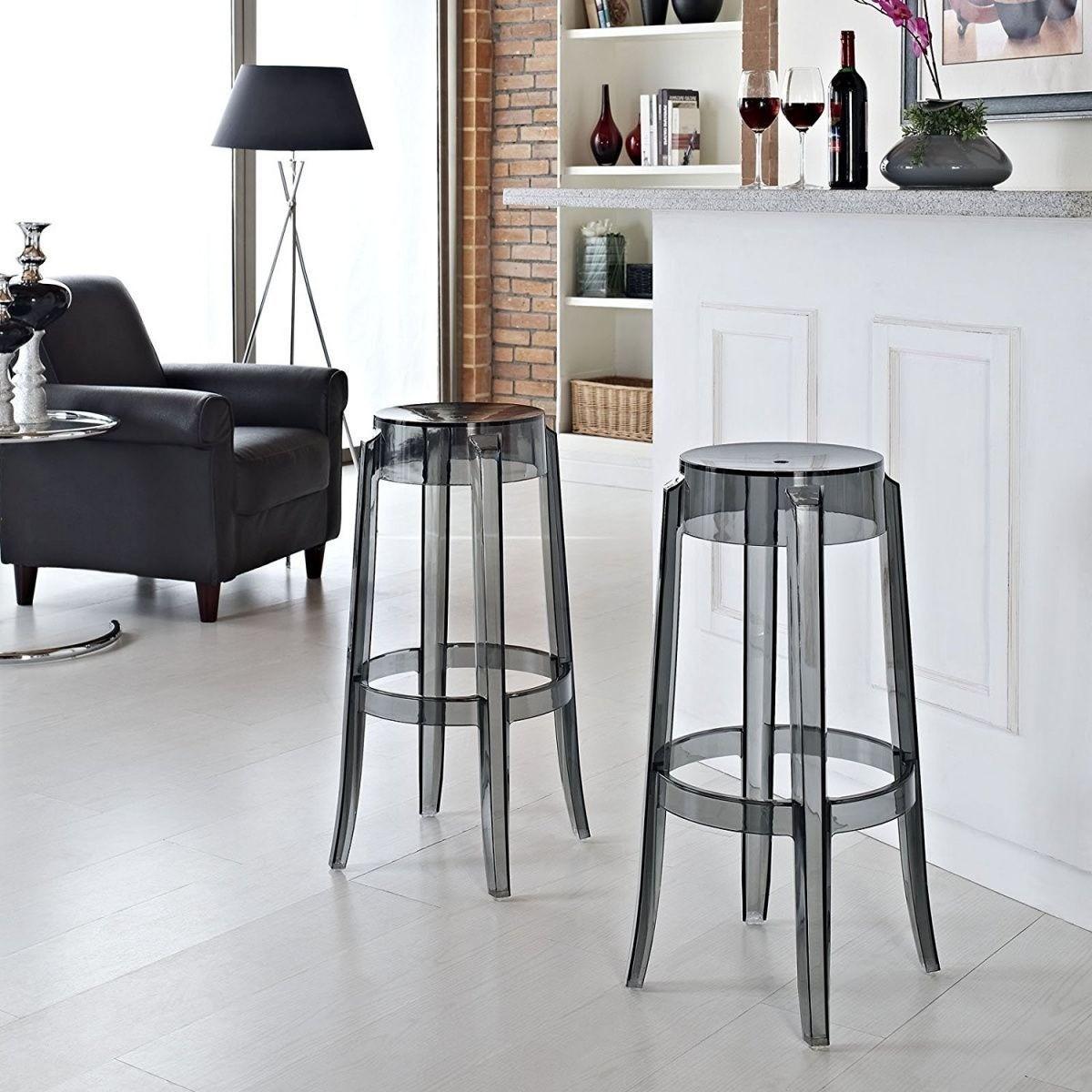прозрачные барные стулья