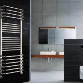 электрический полотенцесушитель в ванную размещение