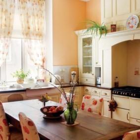 дизайн малогабаритной кухни уютный