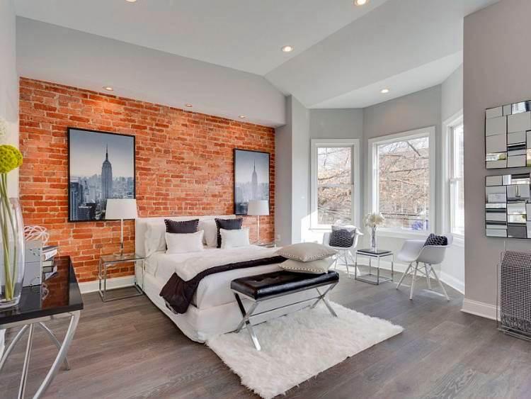 гостиная спальня с двумя окнами лофт