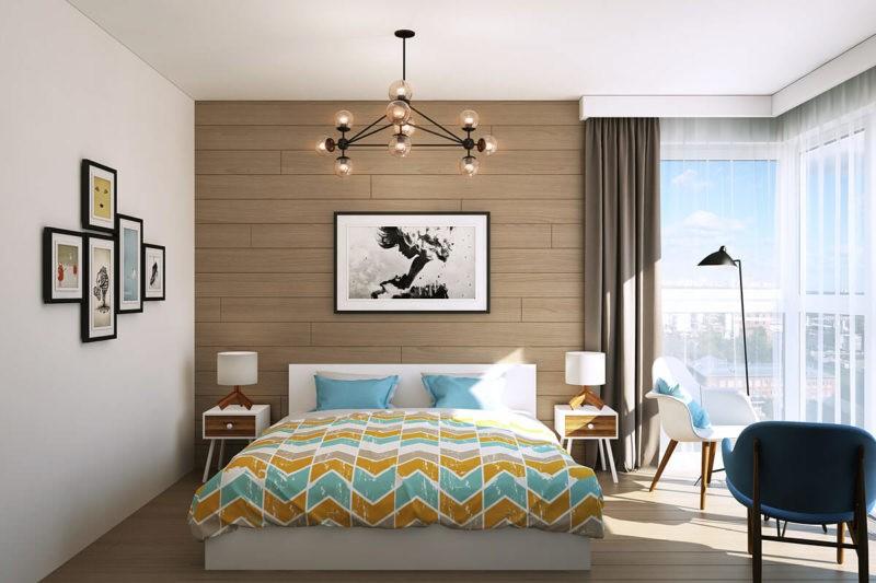 спальня с двумя окнами идеи видов