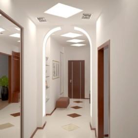 арка в коридоре декор