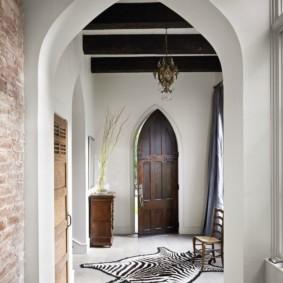 арка в коридоре фото интерьер