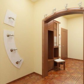 арка в коридоре фото интерьера