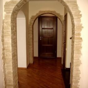 арка в коридоре фото оформления
