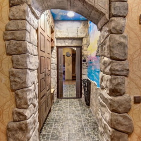 арка в коридоре идеи дизайна
