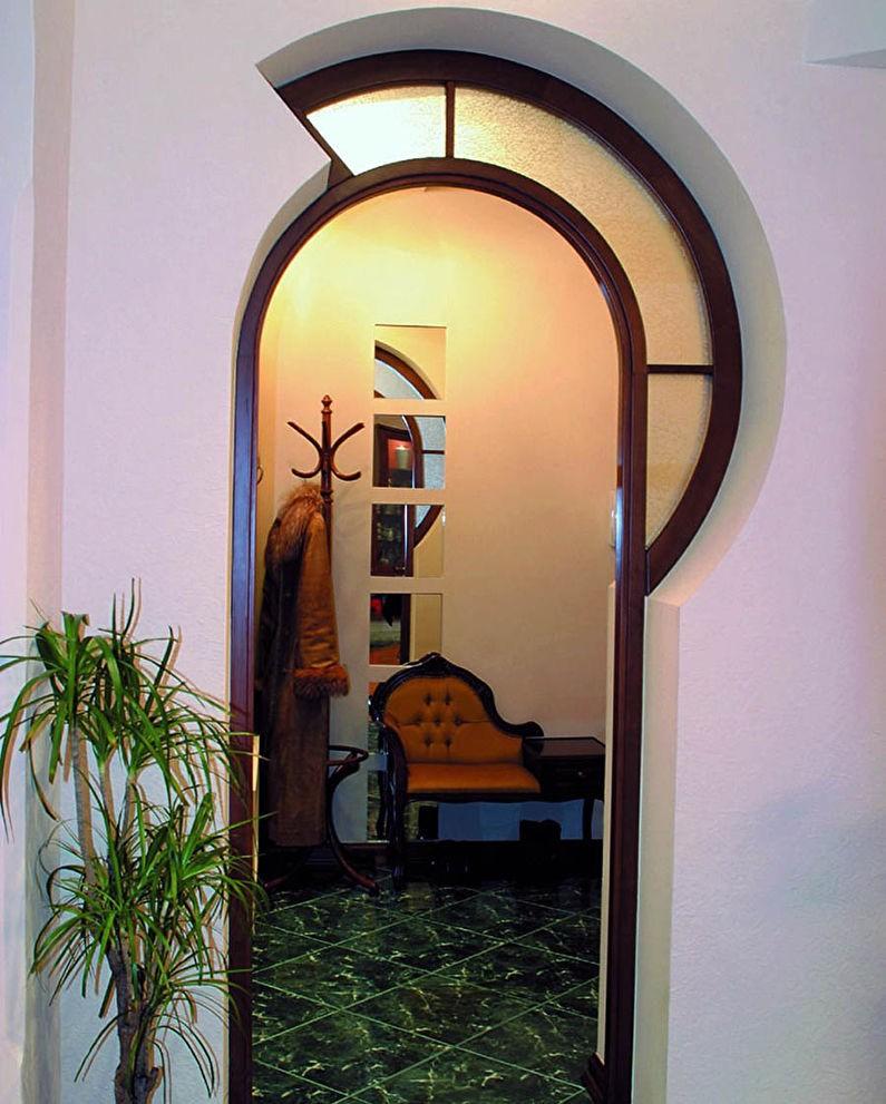 как украсить арку в квартире фото ладно