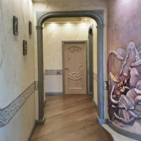 арка в коридоре оформление
