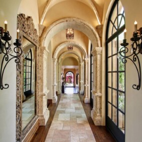 арка в коридоре оформление фото