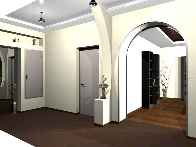 фото арка между коридором и залом однозначный