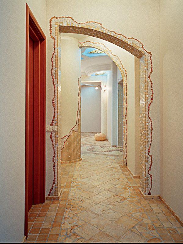 стеклянная потрясающе как украсить арку в квартире фото один самых красивых