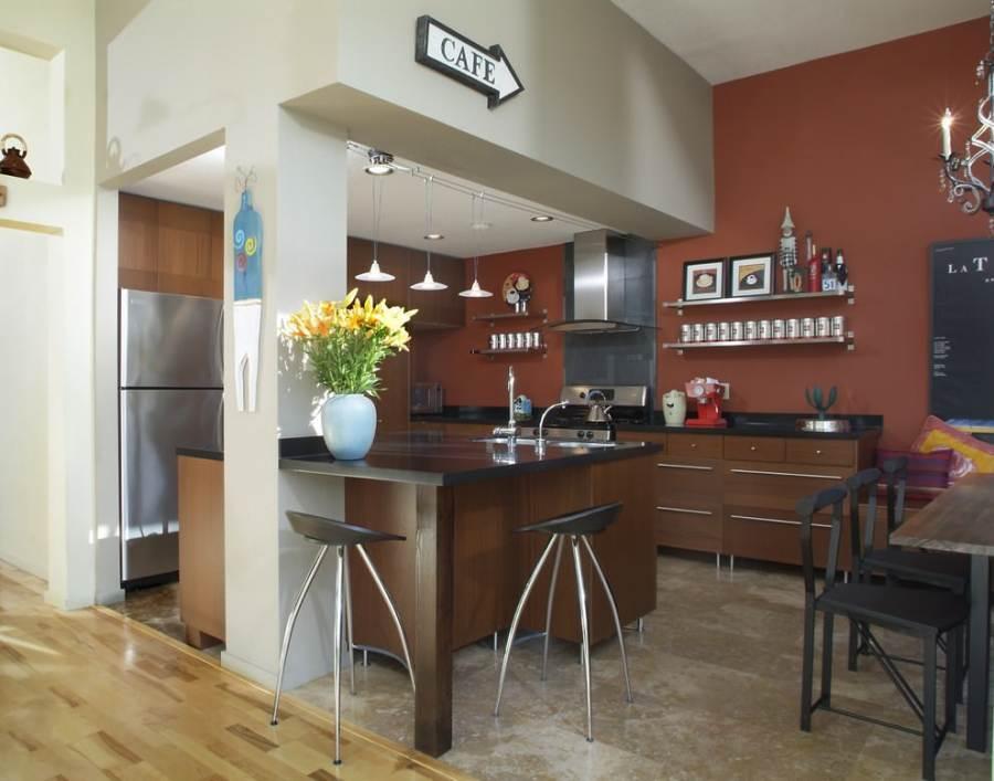 барные стулья под интерьер кухни студии