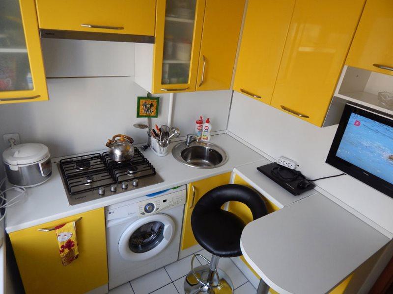 Барная стойка на кухне хрущевки 5 5 кв м