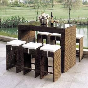 барные стулья для кухни плетеные