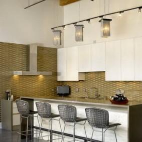 барные стулья для кухни металлические