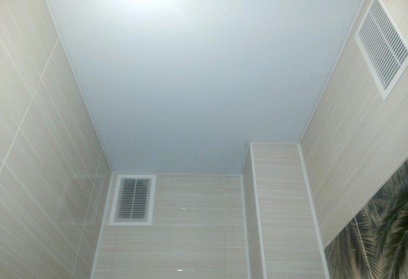 Беленный потолок в туалете хрущевки