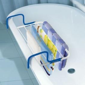 бельевая сушилка в ванной