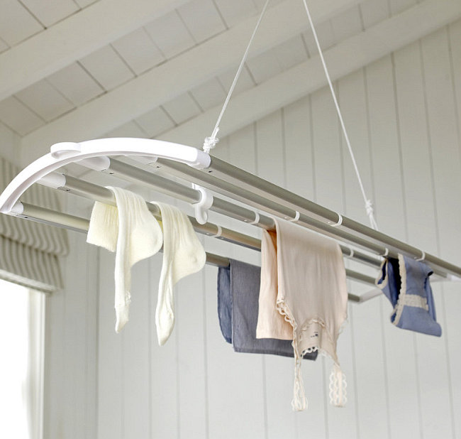 бельевые сушилки в ванной потолочные