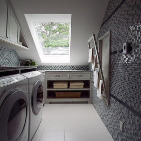 бельевая сушилка в ванной фото дизайн