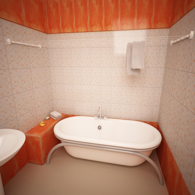 бельевые сушилки в ванной варианты фото