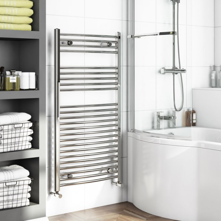 бельевые сушилки в ванной декор идеи