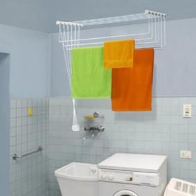 бельевая сушилка в ванной фото виды