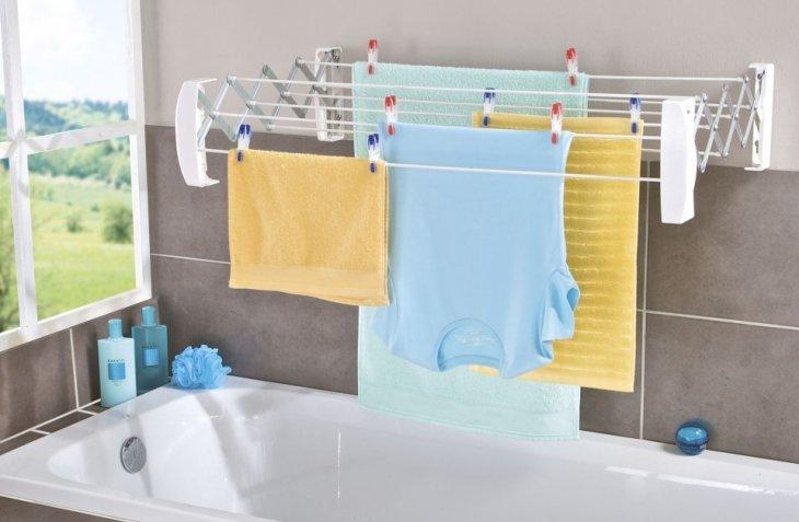 бельевые сушилки в ванной идеи дизайна