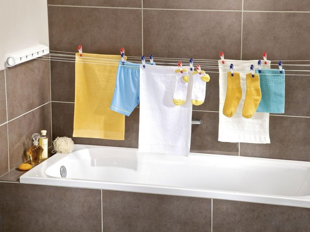 бельевые сушилки в ванной идеи обзор