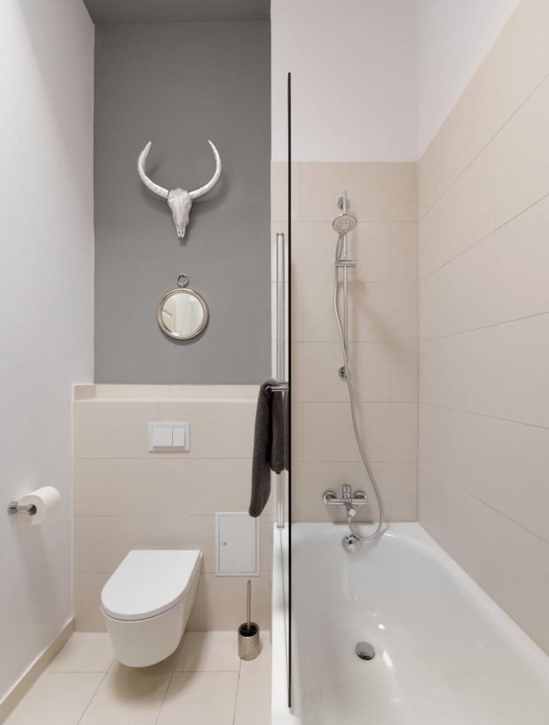Совмещенная ванная комната в стиле минимализма