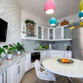 бюджетный интерьер кухни фото декора