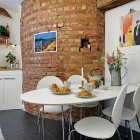 бюджетный интерьер кухни оформление фото