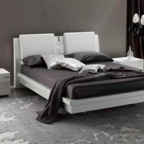 черно белая спальня идеи
