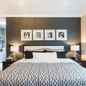 черно белая спальня декор идеи