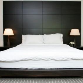 черно белая спальня дизайн фото