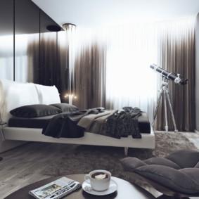 черно белая спальня фото дизайн
