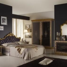 черно белая спальня фото обзор