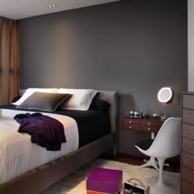 черно белая спальня фото оформление
