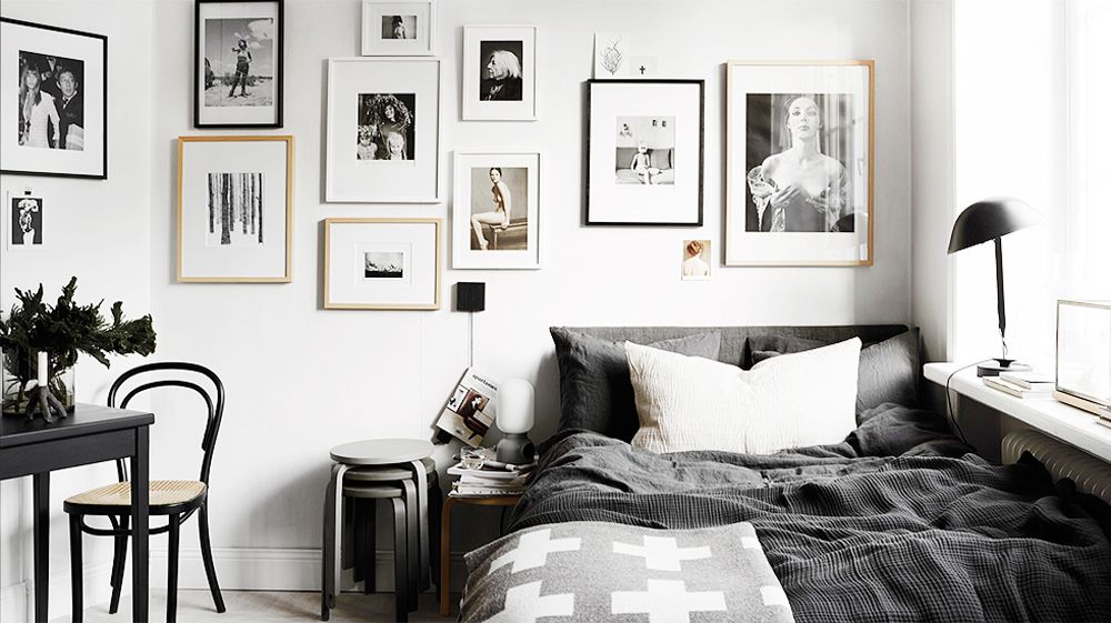черно белая спальня фото вариантов