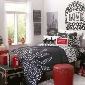 черно белая спальня фото варианты