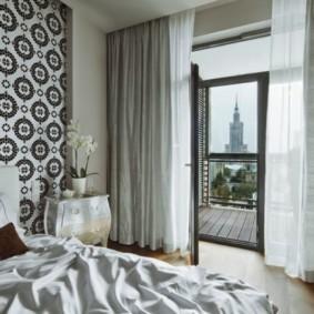 черно белая спальня фото виды