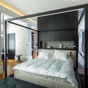 черно белая спальня идеи дизайн
