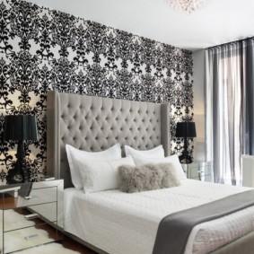 черно белая спальня идеи дизайна
