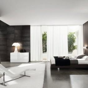 черно белая спальня идеи интерьер