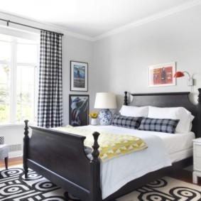 черно белая спальня идеи оформления