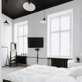 черно белая спальня идеи вариантов